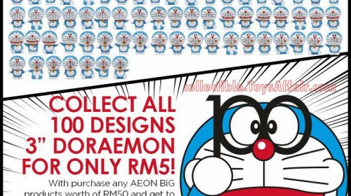 100 Designs 3″ Doraemon at AEON BiG Malaysia