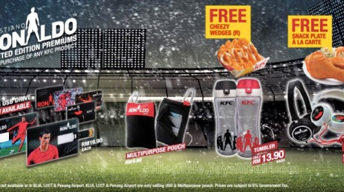 Ronaldo Limited Edition Premiums at KFC Malaysia