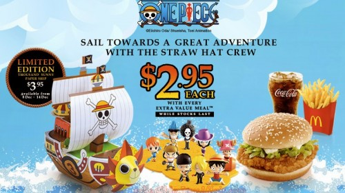 McDonald's One Piece Figurines
