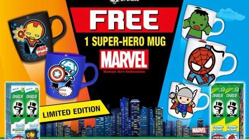 Darlie Malaysia's Marvel Kawaii Art Collection Super-Hero Mugs