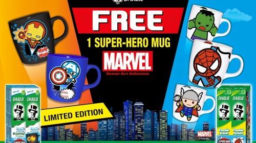 Darlie Malaysia's Marvel Kawaii Art Collection Super-Hero Mugs
